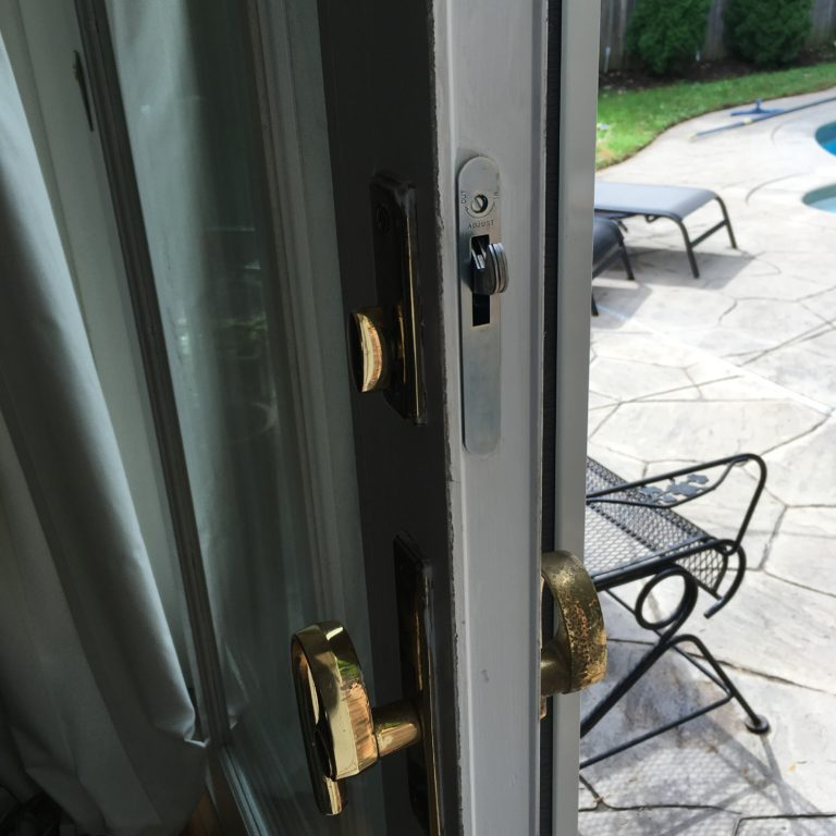 sliding door hardware never worked properly, mr lock magic fixed it