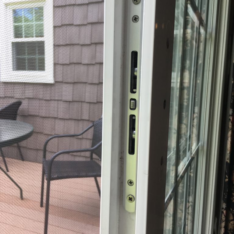 sliding door at residential property - glastonbury ct
